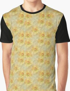 Painted Flowers, Petals, Blossoms - Yellow  Graphic T-Shirt