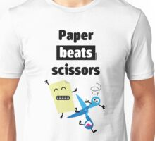 Paper Beats Scissors Unisex T-Shirt