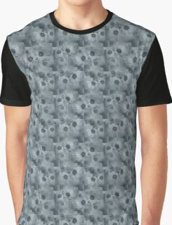 Flowers, Petals, Blossoms, Squares - Gray  Graphic T-Shirt