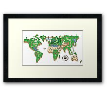 Mario World Map Framed Print