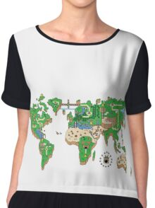 Mario World Map Chiffon Top
