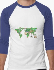 Mario World Map Men's Baseball ¾ T-Shirt