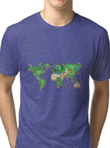 Mario World Map Tri-blend T-Shirt