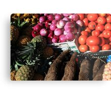 Vegetables and Fruit in Otavalo Metal Print