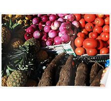 Vegetables and Fruit in Otavalo Poster
