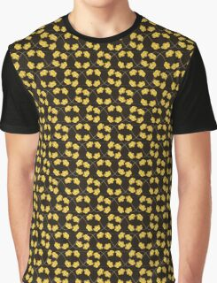 Flowers, Petals, Blossoms - Brown Yellow Graphic T-Shirt
