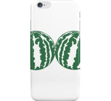 2 melons watermelon bosom breasts balls boobs funny iPhone Case/Skin