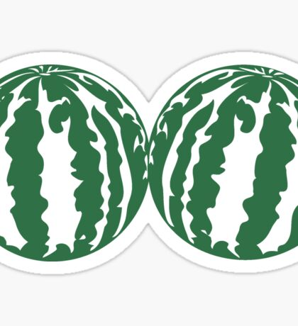 2 melons watermelon bosom breasts balls boobs funny Sticker