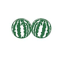 2 melons watermelon bosom breasts balls boobs funny Photographic Print