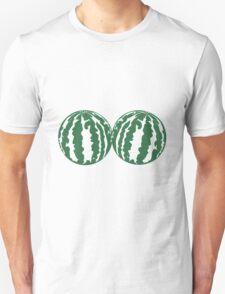 2 melons watermelon bosom breasts balls boobs funny Unisex T-Shirt