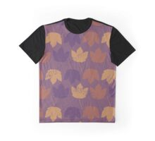 Maple Leaves (Leaf) - Purple Brown Yellow Graphic T-Shirt