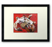 Rams fight over Pumpkin   Framed Print