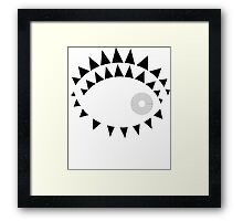 Vector modern abstract geometry squares pattern Framed Print