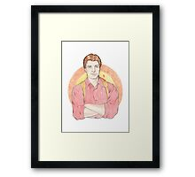 Watercolour Fanart Illustration of Malcolm 'Mal' Reynolds from Joss Whedon's Firefly Framed Print