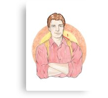 Watercolour Fanart Illustration of Malcolm 'Mal' Reynolds from Joss Whedon's Firefly Canvas Print