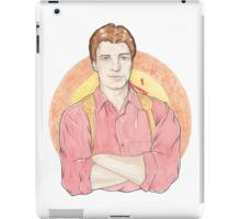 Watercolour Fanart Illustration of Malcolm 'Mal' Reynolds from Joss Whedon's Firefly iPad Case/Skin
