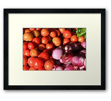 Tomatoes Onions and Peppers Framed Print