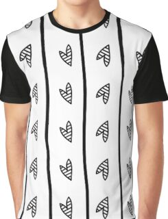 pattern with black heart in Doodle style Graphic T-Shirt