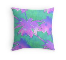 Coconut Palm Trees Island Fantasy Throw Pillow