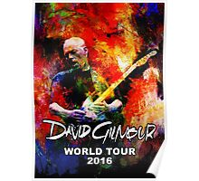 David Gilmour WORLD TOUR 2016 GAL07 Poster
