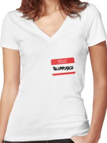 Hello, My Name Is Blurryface Women's Fitted V-Neck T-Shirt