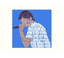 "Bo Burnham ""Repeat Stuff"" quote envelope mesh Art Print"