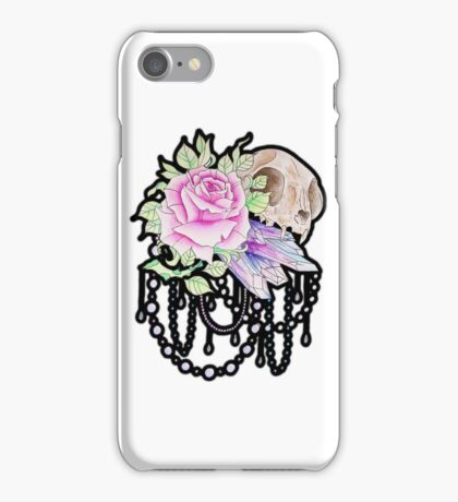 Cat and Crystal iPhone Case/Skin