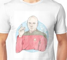 Watercolour Fanart Illustration of Captain Jean-Luc Picard from Star Trek: The Next Generation Unisex T-Shirt