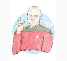 Watercolour Fanart Illustration of Captain Jean-Luc Picard from Star Trek: The Next Generation Unisex T-Shirt