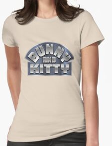 Bunny and Kitty Womens Fitted T-Shirt