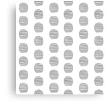 seamless pattern of embroidered points circles in Doodle Canvas Print