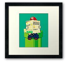 pooping Mario Framed Print