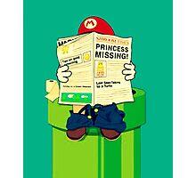 pooping Mario Photographic Print