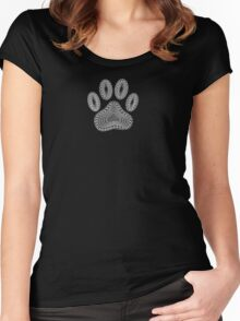 Black Paw Ink Style Women's Fitted Scoop T-Shirt