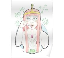 Watercolour Fanart Illustration of Princess Bubblegum from the Cartoon Adventure Time Poster