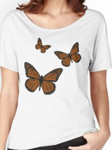 Doodled Monarch Women's Relaxed Fit T-Shirt