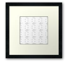 seamless pattern embroidered flowers Framed Print