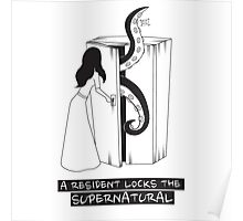 A resident locks the supernatural Poster