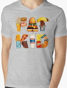 FAT KID Mens V-Neck T-Shirt