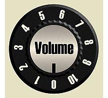 Vintage Volume Knob Photographic Print