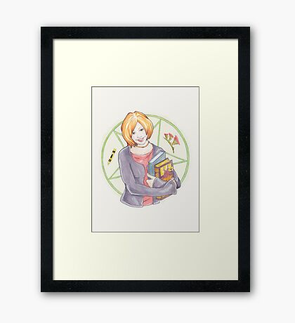 Watercolour Fanart Illustration of Willow Rosenberg from Joss Whedon's Buffy The Vampire Slayer Framed Print