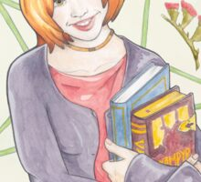 Watercolour Fanart Illustration of Willow Rosenberg from Joss Whedon's Buffy The Vampire Slayer Sticker