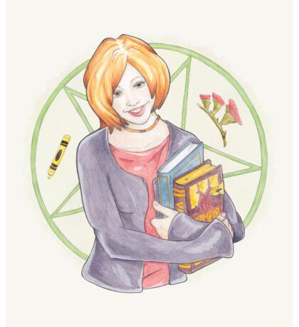 Watercolour Fanart Illustration of Willow Rosenberg from Joss Whedon's Buffy The Vampire Slayer Sticker