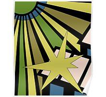 Sol Burst (Green Black) Poster