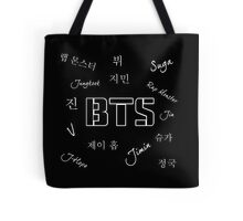 BTS Group (Black) Tote Bag