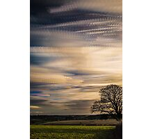 timelapse movement of clouds. Photographic Print