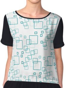 pattern modern style in the form of rectangles with rounded corners Chiffon Top