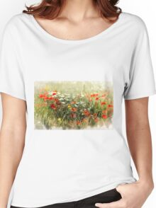 Poppy field, abstract image Women's Relaxed Fit T-Shirt