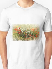 Poppy field, abstract image Unisex T-Shirt