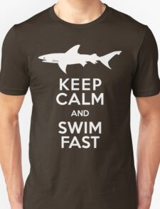 Keep Calm and Swim Fast Funny Unisex T-Shirt